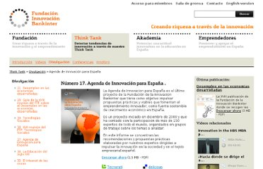 http://www.fundacionbankinter.org/es/publications/innovation-agenda-for-spain