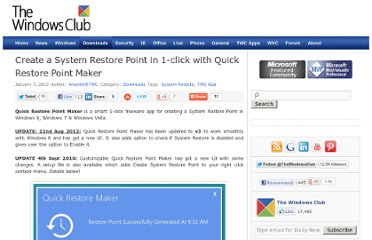 http://www.thewindowsclub.com/create-a-system-restore-point-in-1-click-with-quick-restore-maker