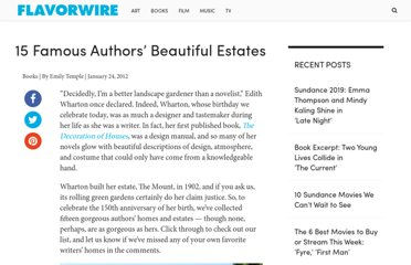 http://flavorwire.com/252181/15-famous-authors-beautiful-estates
