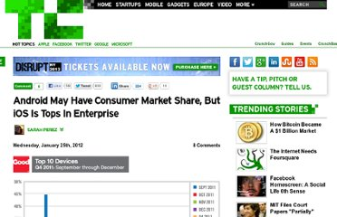 http://techcrunch.com/2012/01/25/android-may-have-consumer-market-share-but-ios-is-tops-in-enterprise/