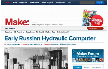 http://blog.makezine.com/2012/01/24/early-russian-hydraulic-computer/