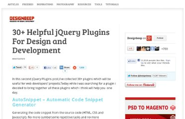 http://designbeep.com/2010/04/26/30-helpful-jquery-plugins-for-design-and-development/