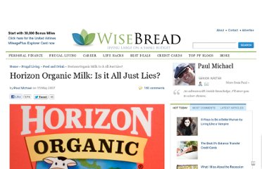 http://www.wisebread.com/horizon-organic-milk-is-it-all-just-lies
