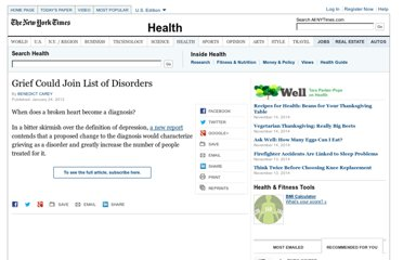http://www.nytimes.com/2012/01/25/health/depressions-criteria-may-be-changed-to-include-grieving.html