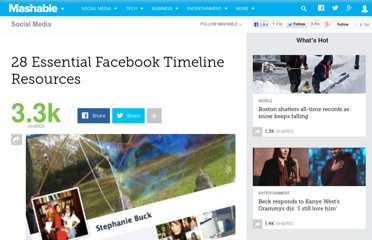 http://mashable.com/2012/01/25/facebook-timeline-essential-resources/