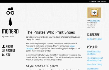 http://modernerd.com/post/16406728919/the-pirates-who-print-shoes