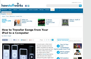 http://electronics.howstuffworks.com/how-to-tech/how-to-transfer-songs-from-ipod-to-computer.htm