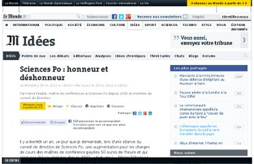 http://www.lemonde.fr/idees/article/2012/01/25/sciencespo-honneur-et-deshonneur_1634247_3232.html