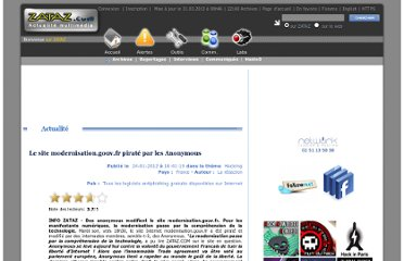 http://www.zataz.com/news/21893/Le-site-modernisation.gouv.fr-pirate-par-les-Anonymous.html