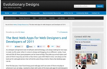 http://www.evolutionarydesigns.net/blog/2011/12/31/the-best-web-apps-for-web-designers-and-developers-of-2011/