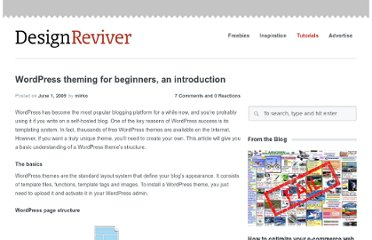 http://designreviver.com/tutorials/wordpress-theming-for-beginners-an-introduction/