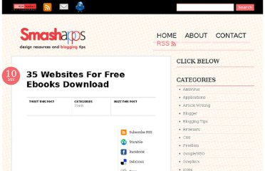 http://www.smashapps.org/2009/12/35-websites-for-free-ebooks-download.html