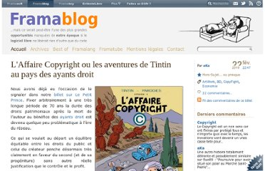 http://www.framablog.org/index.php/post/2010/02/22/affaire-copyright-tintin