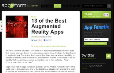 http://android.appstorm.net/roundups/lifestyle-roundups/the-best-augmented-reality-apps/