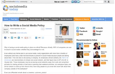 http://socialmediatoday.com/tompick/191412/how-write-social-media-policy