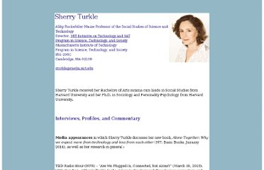 http://web.mit.edu/sturkle/www/interviews.html