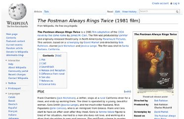 http://en.wikipedia.org/wiki/The_Postman_Always_Rings_Twice_(1981_film)