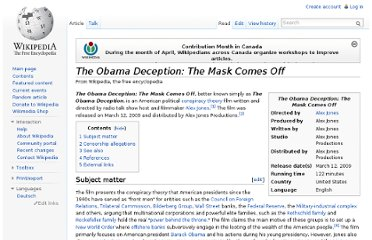 http://en.wikipedia.org/wiki/The_Obama_Deception:_The_Mask_Comes_Off