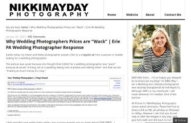 http://blog.nikkimaydayphotography.com/2012/01/26/why-wedding-photographers-prices-are-wack-erie-pa-wedding-photographer-response/