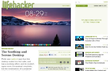 http://lifehacker.com/5879497/the-soothing-and-serene-desktop