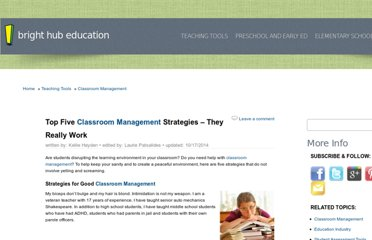 http://www.brighthubeducation.com/classroom-management/3318-top-5-strategies-from-veteran-teacher/