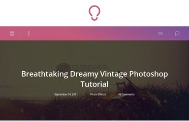 http://www.icanbecreative.com/breathtaking-dreamy-vintage-photoshop-tutorial.html