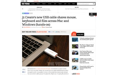 http://www.theverge.com/2011/11/15/2565424/j5-creates-new-usb-cable-shares-mouse-keyboard-and-files-across-mac