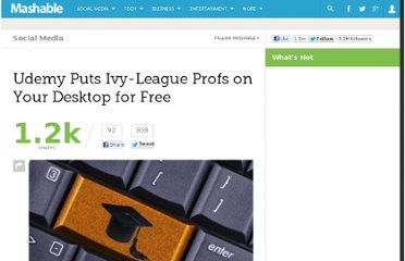 http://mashable.com/2012/01/26/udemy-faculty-project/
