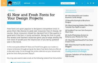 http://naldzgraphics.net/freebies/new-and-fresh-fonts/
