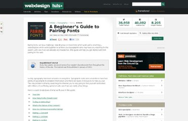 http://webdesign.tutsplus.com/articles/typography-articles/a-beginners-guide-to-pairing-fonts/