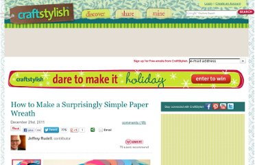 http://www.craftstylish.com/item/13737/how-to-make-a-surprisingly-simple-paper-wreath