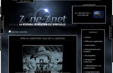 http://zone-7.net/v3/articles/etre-ou-sidentifier-telle-est-la-question