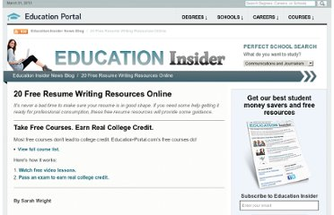 http://education-portal.com/articles/25_Free_Resume_Writing_Resources_Online.html