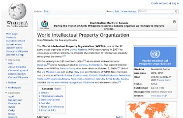 http://en.wikipedia.org/wiki/World_Intellectual_Property_Organization
