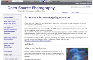 http://osp.wikidot.com/parameters-for-photographers