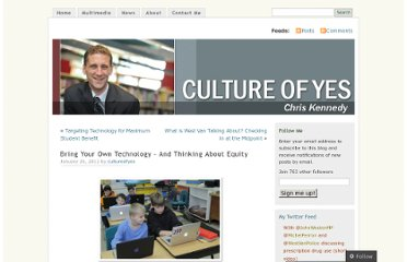 http://cultureofyes.ca/2012/01/26/bring-your-own-technology-and-thinking-about-equity/