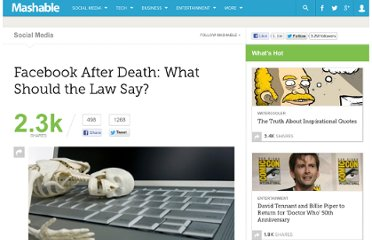 http://mashable.com/2012/01/26/digital-assets-after-death/