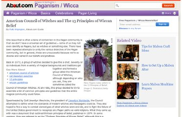 http://paganwiccan.about.com/od/wiccanpaganhistory/a/American-Council-Of-Witches-And-The-13-Principles-Of-Wiccan-Belief.htm
