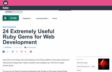 http://net.tutsplus.com/articles/web-roundups/24-extremely-useful-ruby-gems-for-web-development/