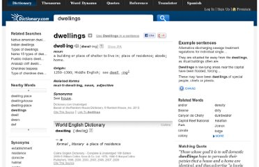 http://dictionary.reference.com/browse/dwellings