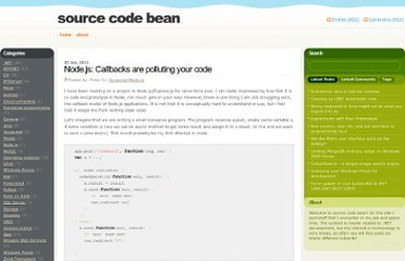 http://sourcecodebean.com/archives/callbacks-are-polluting-your-code/1488