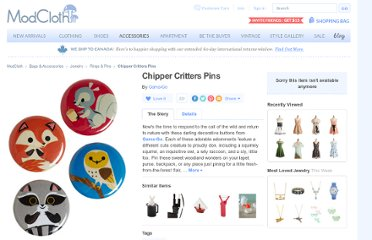 http://www.modcloth.com/shop/rings-pins/chipper-critters-pins