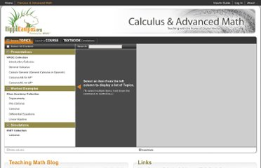 http://www.hippocampus.org/Calculus%20%26%20Advanced%20Math