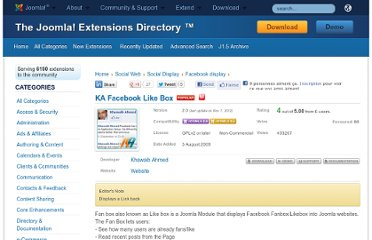 http://extensions.joomla.org/extensions/social-web/social-display/facebook-display/9231