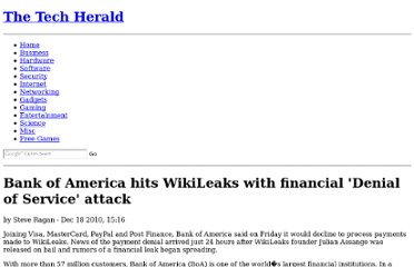 http://www.thetechherald.com/articles/Bank-of-America-hits-WikiLeaks-with-financial-Denial-of-Service-attack/12267/