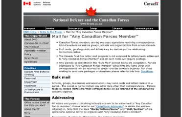 http://www.forces.gc.ca/site/commun/message/addresses-2-eng.asp