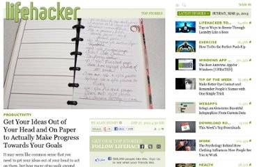 http://lifehacker.com/5879855/get-your-ideas-out-of-your-head-and-on-paper-to-actually-make-progress-towards-your-goals