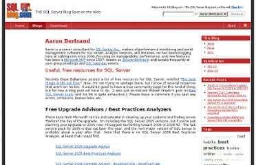 http://sqlblog.com/blogs/aaron_bertrand/archive/2010/10/26/useful-free-resources-for-sql-server.aspx