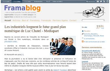http://www.framablog.org/index.php/post/2010/02/23/industriels-microsoft-grand-plan-numerique-luc-chatel-mediapart