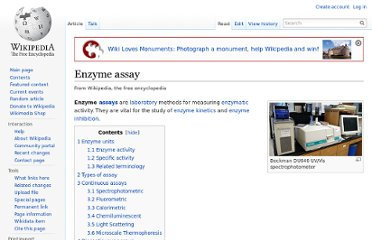 http://en.wikipedia.org/wiki/Enzyme_assay